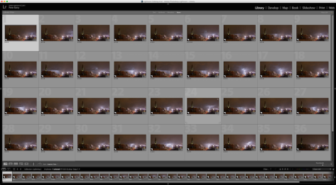 Lightroom lightning shots