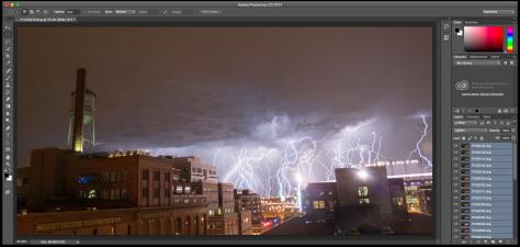 Photoshop lightning screen shot 2