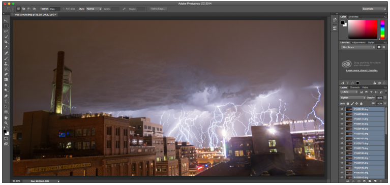 Photoshop lightning screen shot 2
