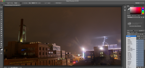 Photoshop lightning screen shot
