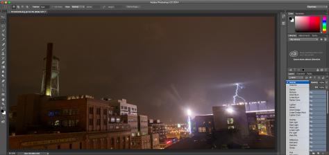 Photoshop lightning screen shot