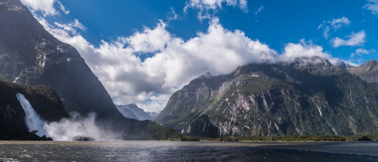 Milford Sound waterfall 3